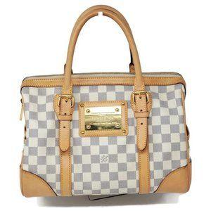 Auth Louis Vuitton Berkeley Damier Azur Tote Bag